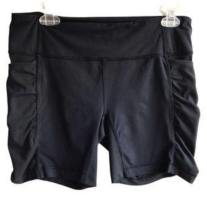 "Lululemon Speed Track Short 6"" Black Size 10 Running Athleisure Ruched Pockets"